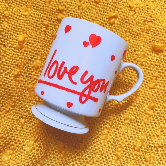 VTG 80s I Love You Valentine Mug